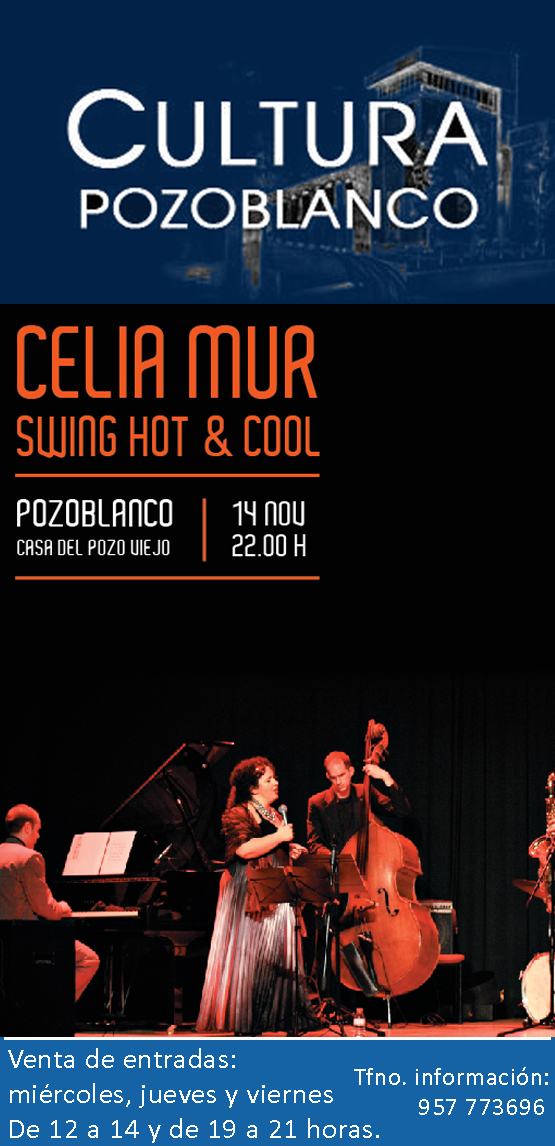 Cartel Concierto Celia en Pozoblanco