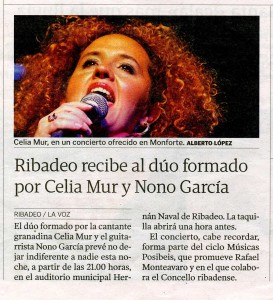 Prensa en Ribadeo