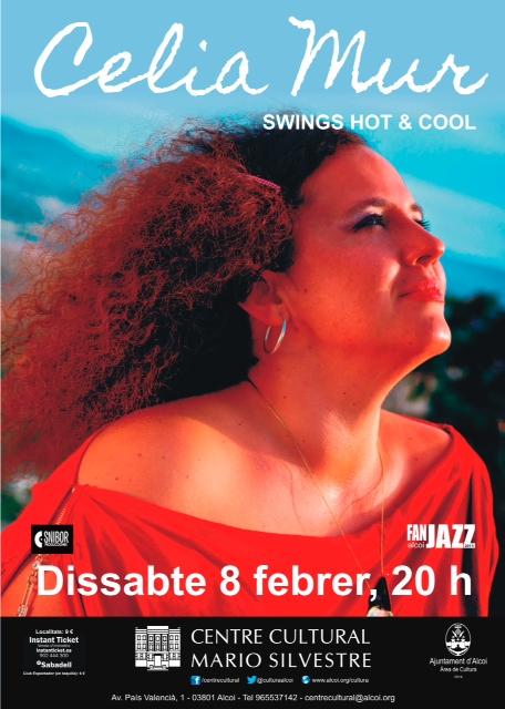 Cartel Celia concierto Alcoy 2014
