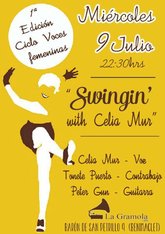 """Celia Mur """"Swingin"""" en La Gramola Cafe"""